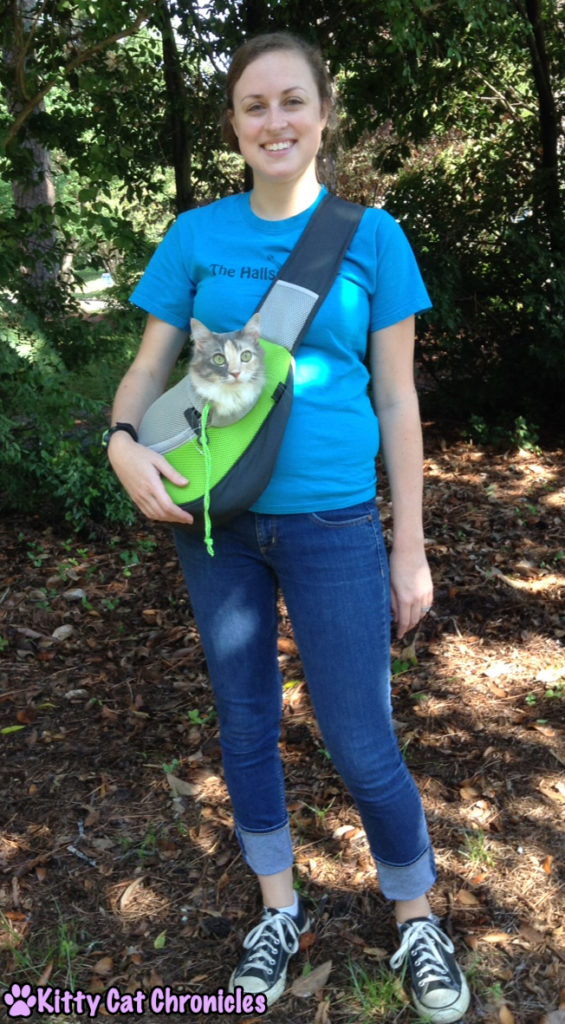 Sophie - cat in Wacky Paws Pet Sling