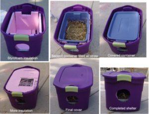 Plastic Bin Feral Cat Shelter
