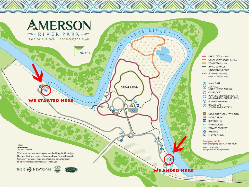 Amerson River Park Map