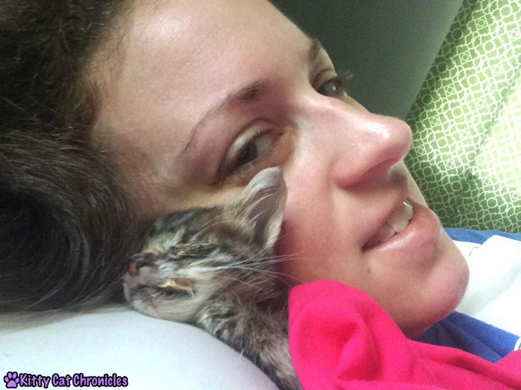 Milton and Me cuddling