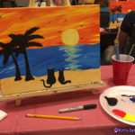 The Adventure Team Goes to BlogPaws - Sip & Paint