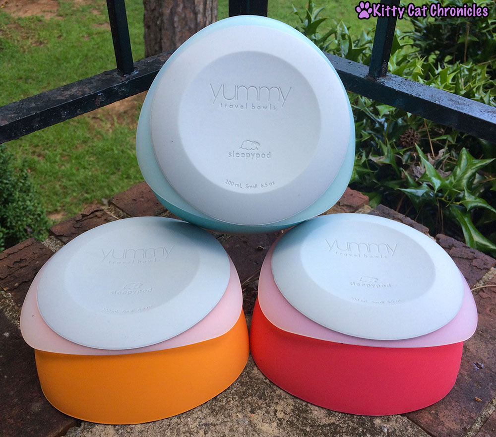 Get the Gear! 10 Must Have Accessories for Your Adventure Cat - Sleepypod Yummy Travel Bowls
