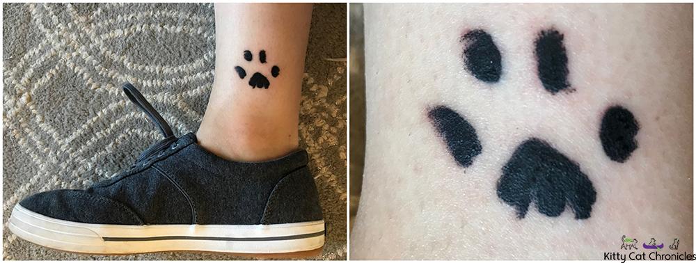 Cat paw print tattoo - Caster