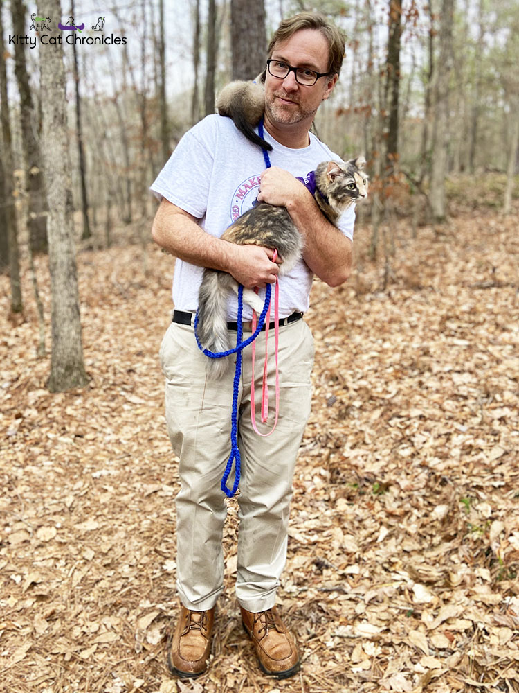 Family Hike in Caster's Memory - hiking with cats