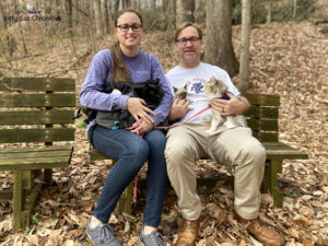 Family Hike in Caster's Memory - family photo at Pig Trail