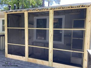 In Love with Our New Catio - screened in catio