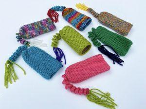 Crochet Cat Toys - toilet paper roll kicker sleeve