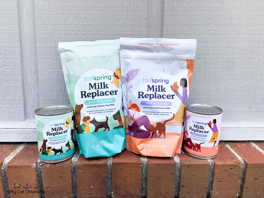 Tailspring Milk Replacer Products for Kittens and Puppies
